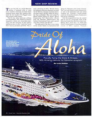 Articles By W Lynn Seldon Jr Travel Writer Photographer - Us registered cruise ships