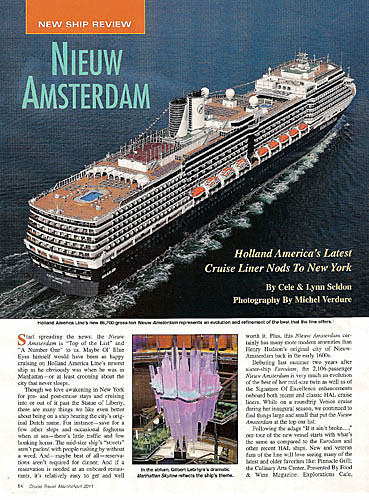 Articles By W Lynn Seldon Jr Travel Writer Photographer - Holland new amsterdam cruise ship