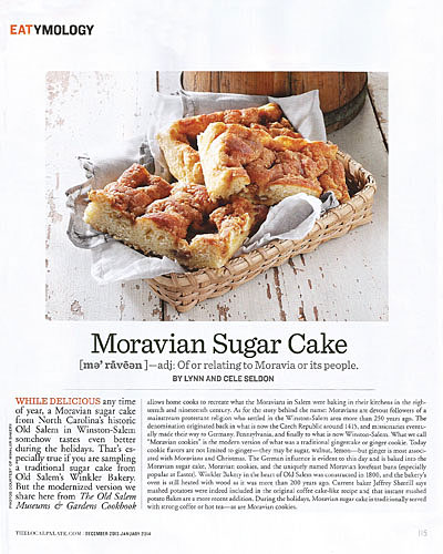 EATYMOLOGY: Moravian Sugar Cake